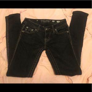 Miss Me Black Skinny Jeans 25